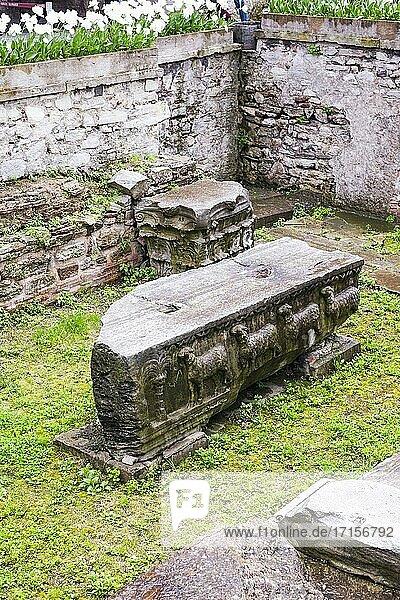 Ruins at Hagia Sophia museum  Istanbul  Turkey