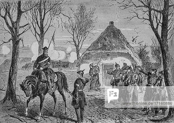The siege de paris  a prussian battery near choisy-le-roi  the illustrious universe  publisher michel levy 1870.