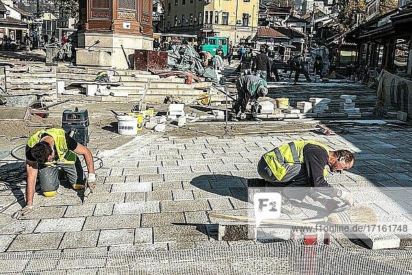 Reconstruction of Bascarsija Square.
