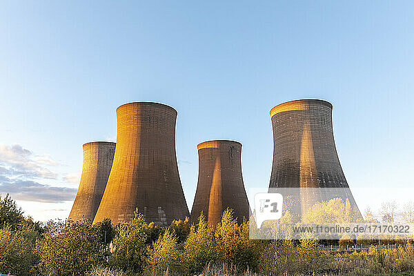 UK  England  Rugeley  Cooling towers ofcoal-firedpower station
