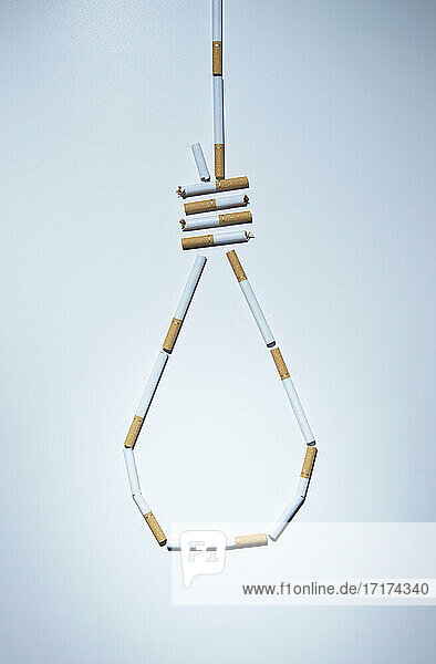 Hangman's knot made out of cigarettes