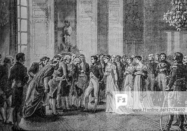 Bonaparte et josephine au palais de saint cloud  1792-1804 histoire de france par henri martin editeur furne 1850.