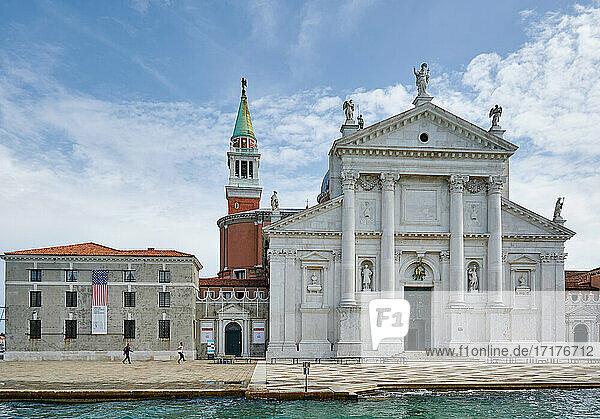 Fassade der San Giorgio Maggiore-Kirche  Chiesa di San Giorgio Maggiore  Venedig  Venetien  Italien |facade of Chiesa di San Giorgio Maggiore  Venice  Veneto  Italy|