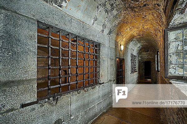 Innenaufnahme des Prigioni nuove  das neue Gefängnis  Venedig  Venetien  Italien |interior shot of New Prison (Prigioni Nuove)  Venice  Veneto  Italy|