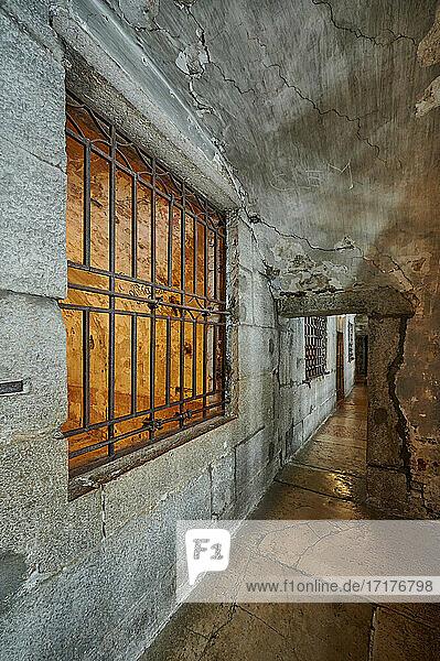 Innenaufnahme des Prigioni nuove  das neue Gefängnis  Venedig  Venetien  Italien  interior shot of New Prison (Prigioni Nuove)  Venice  Veneto  Italy 