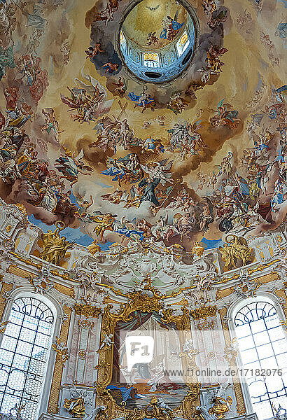 Ettal  Germany  Bavarian Lander  frescoes in the interior of the Monastery