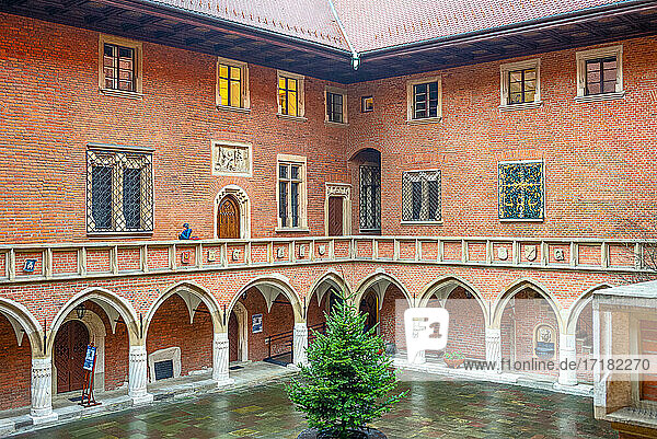 Cracow  Poland  The courtyard of the Collegium Maius (ancient university)