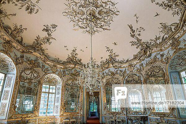 München. Deutschland  Die raffinierten Innenräume des Pavillons Amalienburg im Nymphenburger Park