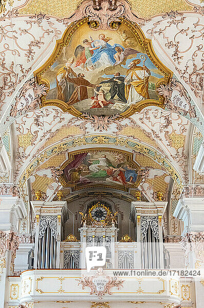 Munich. Germany  The ancient organ of the church of Holy Gost