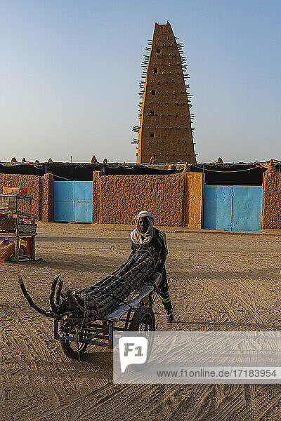 Grand Mosque of Agadez  UNESCO World Heritage Site  Agadez  Niger  Africa