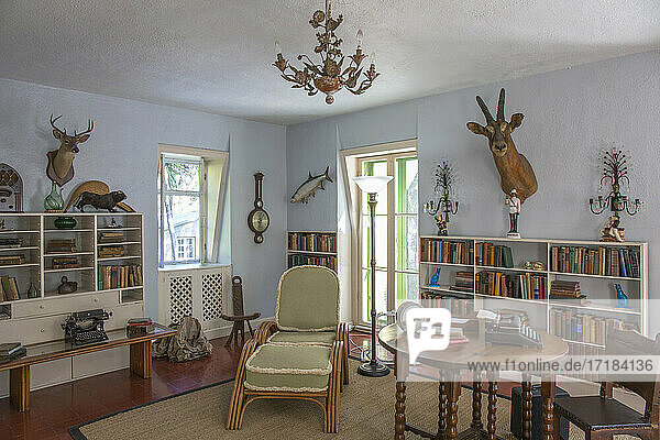 Author's studio at the Ernest Hemingway Home and Museum  Old Town  Key West  Florida Keys  Florida  United States of America  North America