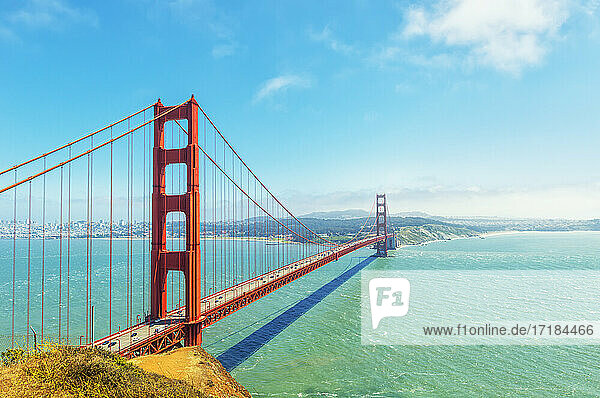 View of Golden Gate Bridge  San Francisco  California  United States of America  North America