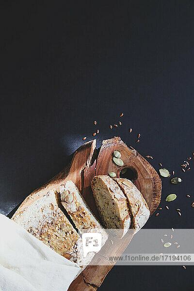 healthy gluten free bread background