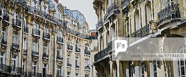 Haussmann style apartment houses in Paris