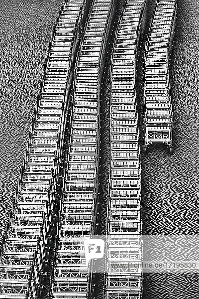 Airport Carts Lined Up Texture