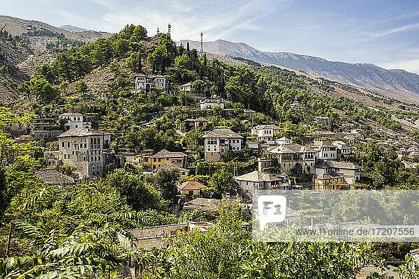 Old town on Mali I Gjere at Gjirokaster  Albania