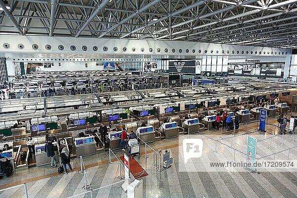 Terminal 1 of Malpensa Airport in Milan  Italy  Europe