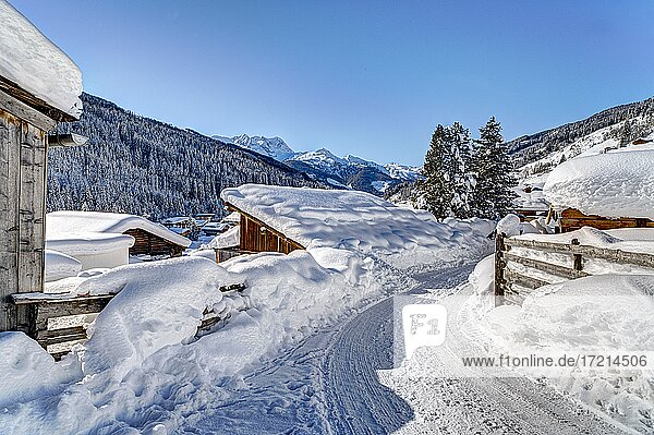Gerlos  Zillertal  Winter  Schnee  Wintersportort
