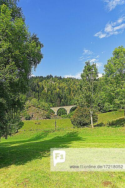 Landschaft  Eisenbahnbrücke  Höllentalbahn