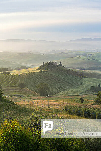 Countryside view  vineyards in Tuscany