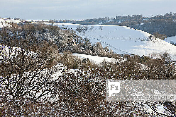 Cotswold Edge and Coombe Valley near Wotton Under Edge
