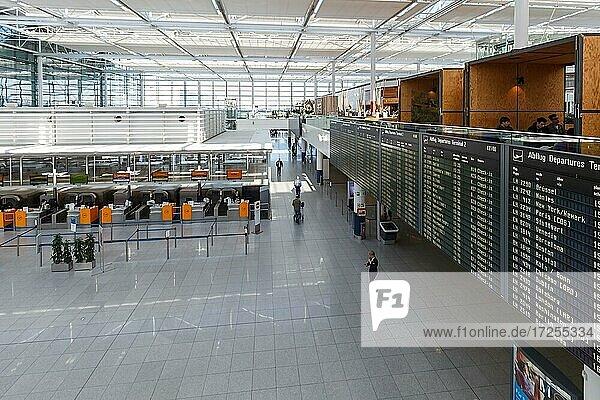 Lufthansa Terminal 2 of Munich Airport  Germany  Europe