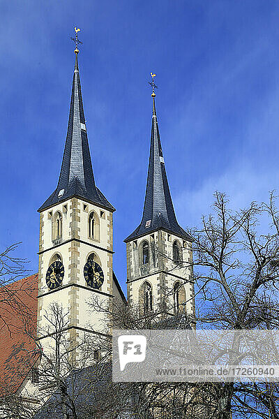 Stadtkirche in der Altstadt von Bad Wimpfen im Kraichgau  Landkreis Heilbronn  Baden-Württemberg  Süddeutschland  Deutschland  Europa.