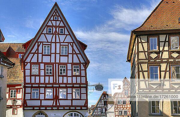 Gasthaus Barbarossa in der Altstadt von Bad Wimpfen im Kraichgau  Landkreis Heilbronn  Baden-Württemberg  Süddeutschland  Deutschland  Europa.
