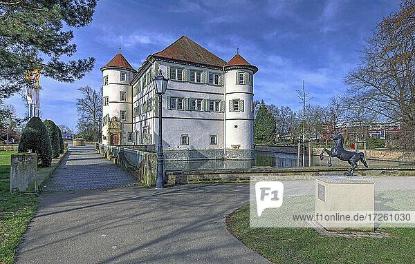 Wasserschloss in Bad Rappenau; im Landkreis Heilbronn  Baden-Württemberg; Deutschland  Europa.