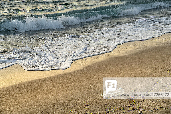 USA  Florida  Boca Raton  Plastikflasche am Strand
