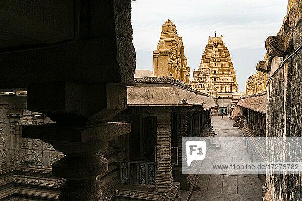 India  Karnataka  Hampi  Architecture of ancientVirupakshaTemple