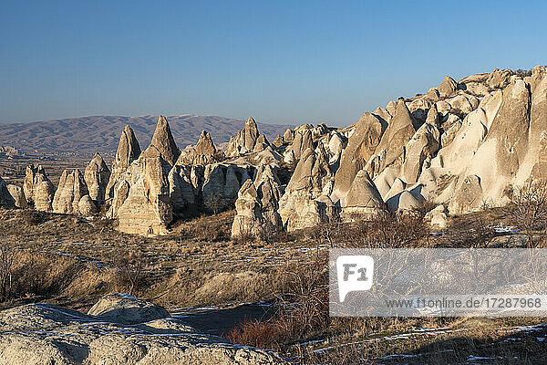 Turkey NevsehirProvince  Goreme  Rock Hoodoos inGoremeNational Park