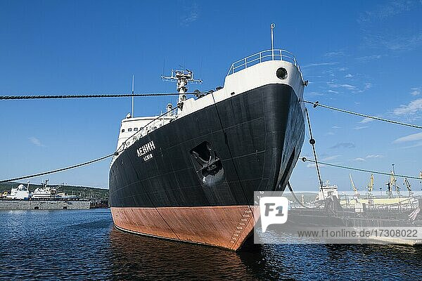 Lenin first nuclear powered icebreaker in the world  Murmansk  Russia  Europe