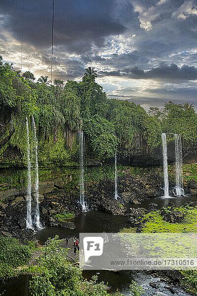 Agbokim waterfall  Ikom  Nigeria  West Africa  Africa