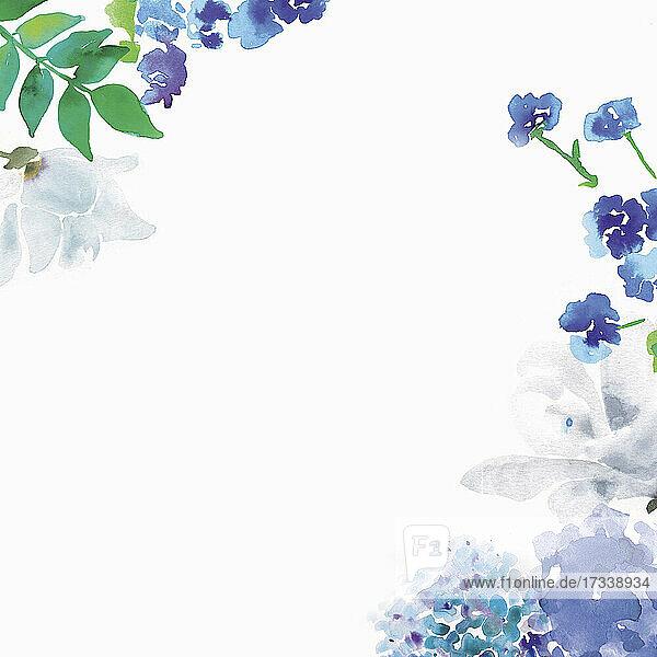 Schriftzug Ciao Bella mit Blumenumrandung