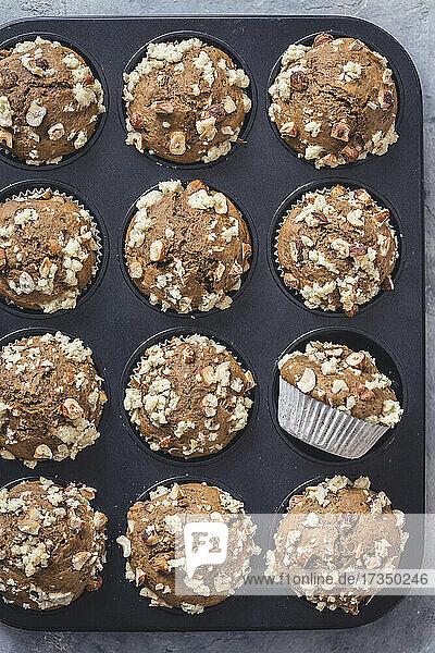 Kaffee-Haselnuss-Muffins