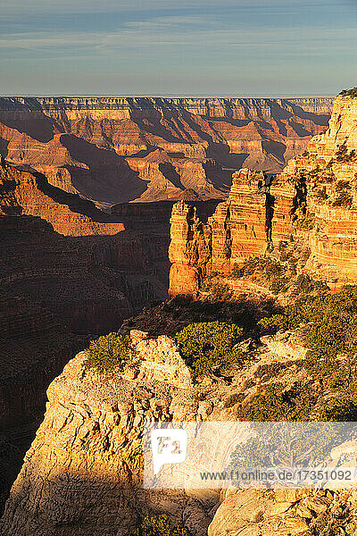 View from Cape Royal  North Rim  Grand Canyon National Park  UNESCO World Heritage Site  Arizona  United States of America  North America