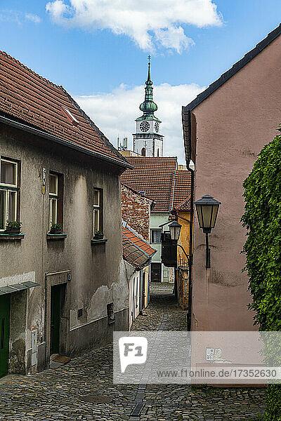 Jewish Quarter and St. Procopius' Basilica  UNESCO World Heritage Site  Trebic  Czech Republic  Europe