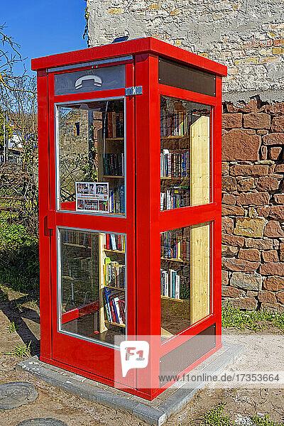 Telefonzelle  Leihbücher