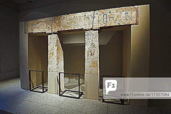 Ancient Egyptian Gate  Egyptian Museum  New Museum  Museum Island  Berlin  Germany  Europe