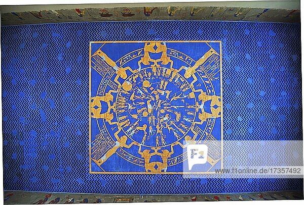 Original ceiling paintings from 1850  Egyptian Museum  Neues Museum  Museum Island  Berlin  Germany  Europe
