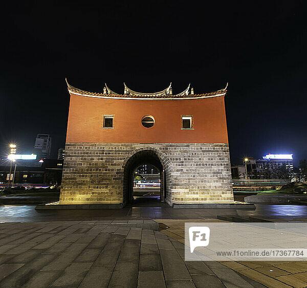 Blick auf das Nordtor der Stadtmauer von Taipeh in Taiwan
