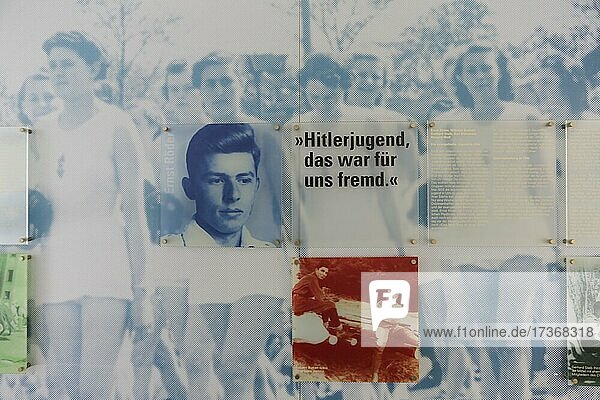 Einstein House  White Rose Memorial  Young People in Ulm 1933 to 1945  we wanted the other  permanent exhibition in the foyer of the Adult Education Centre  Ulm  Baden-Württemberg  Germany  Europe Einstein House, White Rose Memorial, Young People in Ulm 1933 to 1945, we wanted the other, permanent exhibition in the foyer of the Adult Education Centre, Ulm, Baden-Württemberg, Germany, Europe