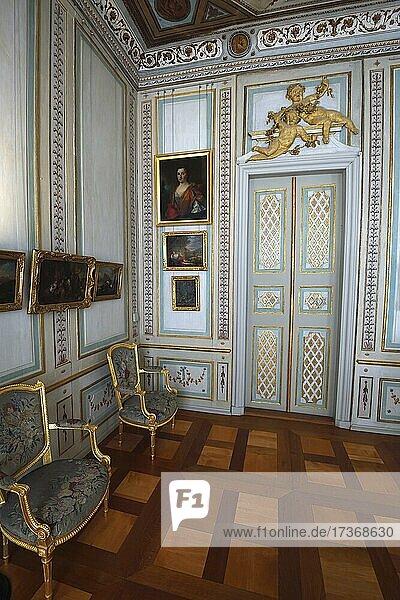 Schreibkabinett  Schloss Rheinsberg  Brandenburg  Deutschland  Europa Schreibkabinett, Schloss Rheinsberg, Brandenburg, Deutschland, Europa