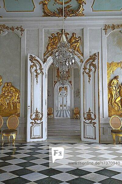Zimmerflucht  Neue Kammern  Schloss Sanssouci  Potsdam  Brandenburg  Deutschland  Europa Zimmerflucht, Neue Kammern, Schloss Sanssouci, Potsdam, Brandenburg, Deutschland, Europa