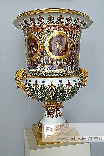 Monumental vase as a gift from King Charles X to Frederick William III  c. 1828  antechamber  new wing  Charlottenburg Palace  Berlin  Germany  Europe