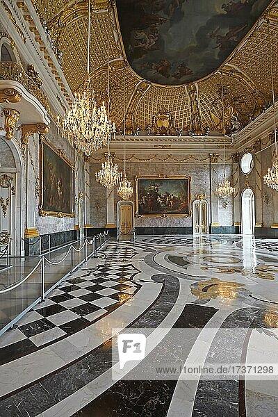 Marble Hall  New Palace  Sanssouci Palace  Potsdam  Brandenburg  Germany  Europe