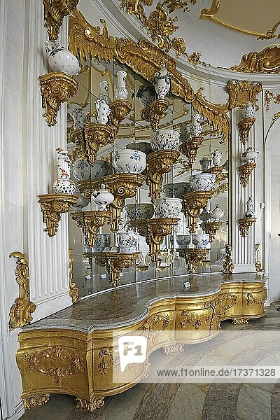 Replica of the vessels for the Baroque ceremonial buffet by Heidi Manthey  1987  New Chambers  Sanssouci Palace  Potsdam  Brandenburg  Germany  Europe