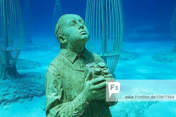Museum of Underwater Sculpture Ayia Napa (MUSAN)  Art work sculptor Jason deCaires Taylor. Mediterranean Sea  Ayia Napa  Cyprus  Europe