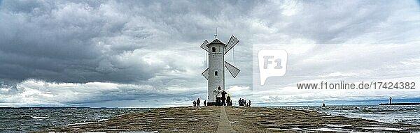 Mill beacon  Swinoujscie  Usedom Island  Poland  Europe
